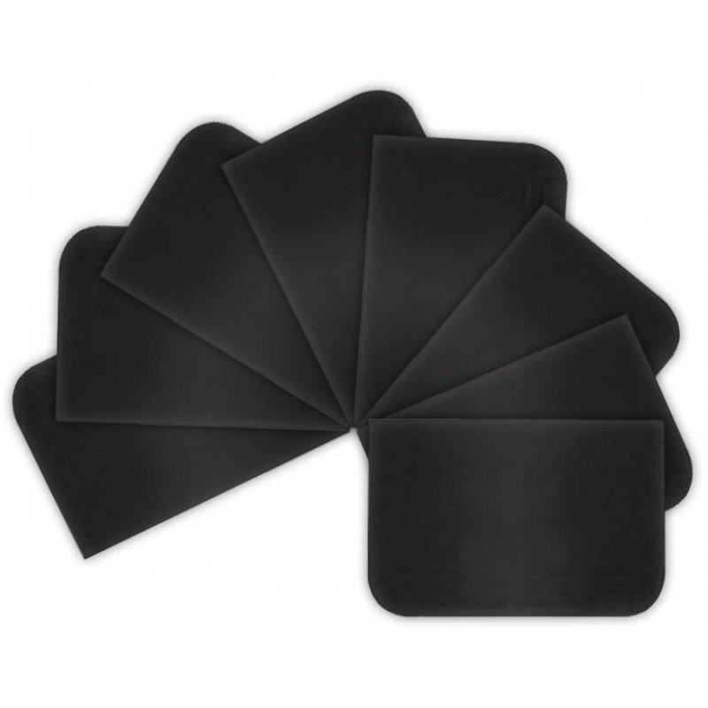 Szpachelka plastikowa czarna 115x80mm