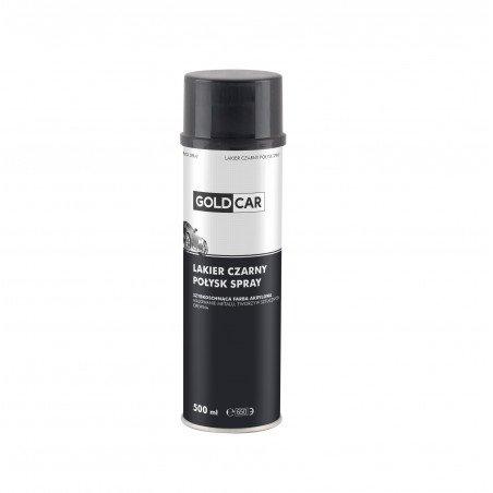 Lakier czarny połysk spray Goldcar 500ml