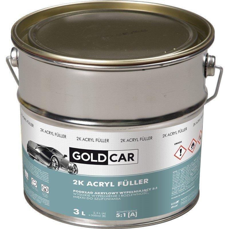 Podkład akrylowy 2K 5:1 szary Goldcar 3l kpl